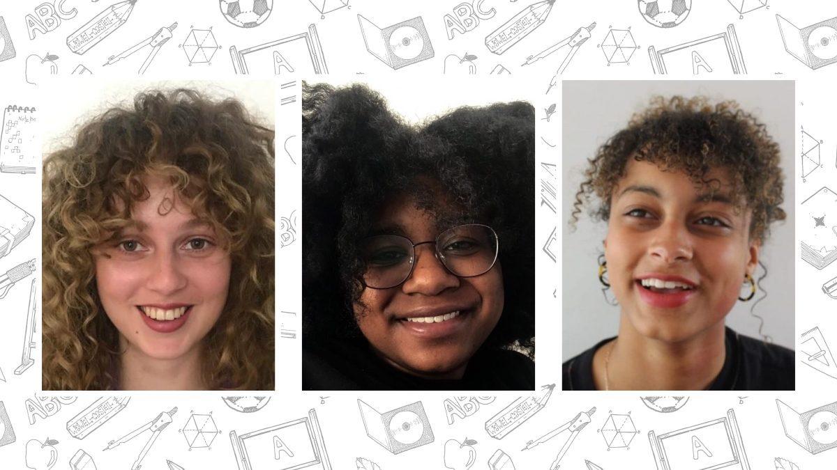 Lakiescha (20), Sohna (19) en Veronika (19) strijden tegen racisme in de klas